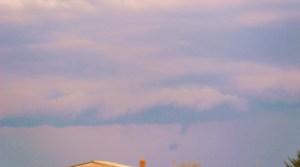 mini tornado forming